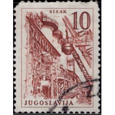 1961. Почтовая марка Югославии. Технологии и Архитектура, 10