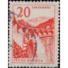 1959. Почтовая марка Югославии. Технологии и Архитектура, 20