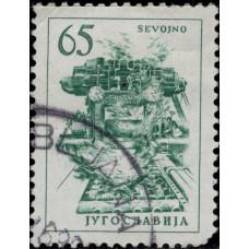 1961. Почтовая марка Югославии. Технологии и Архитектура, 65