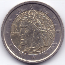 2 евро 2002 Италия - 2 euro 2002 Italy, из оборота