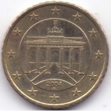 50 евроцентов 2004 года Германия - 50 euro cents 2004 Germany, A, из оборота