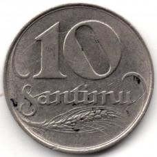 10 сантимов 1922 Латвия - 10 santimu 1922 Latvia
