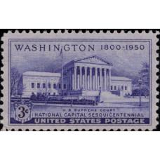 1950, апрель. Почтовая марка США. 150-летие Национального Капитолия, 3 цента