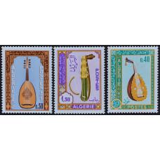 1968, февраль. Набор почтовых марок Алжира. Музыкальные инструменты