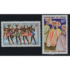 1964, май. Набор почтовых марок Конго. Фольклор
