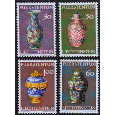 1974, март. Набор почтовых марок Лихтенштейна. Китайские вазы