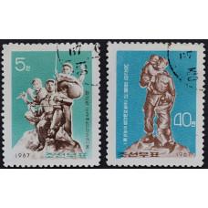 1967, июнь. Набор почтовых марок Северной Кореи. Памятники национально-освободительной войны