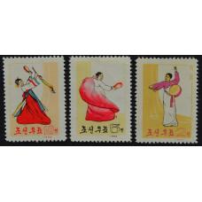1964, июнь. Набор почтовых марок Северной Кореи. Национальный танец