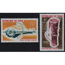 1965, октябрь. Набор почтовых марок Чада. Музыкальные инструменты