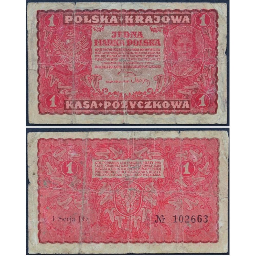 1 марка 1919 Польша - 1 marka 1919 Poland