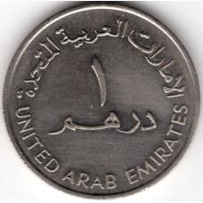1 дирхам 1989 ОАЭ - 1 dirham 1989 United Arab Emirates, из оборота