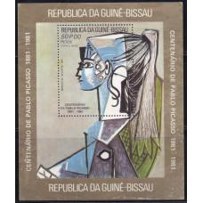 1981, сентябрь. Почтовая марка Гвинея-Бисау. Авиапочта - 100 лет со дня рождения Пабло Пикассо, 50Р