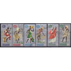 1965, сентябрь. Набор марок Бурунди. Танцоры