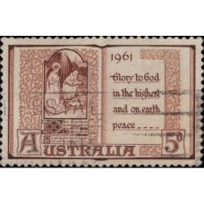 1961, ноябрь. Почтовая марка Австралии. Рождество, 5P