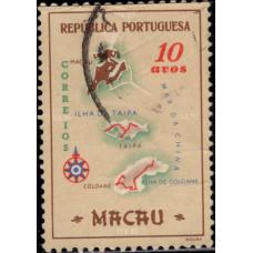 1956, май. Почтовая марка Макао. Марс, 10A