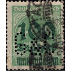 1923. Почтовая марка Германской империи, Германский Рейх. С надпечаткой, 100/400T.Mk./Mk