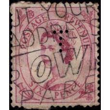 1955 -1957. Почтовая марка Великобритании. Королева Елизавета II, 6P