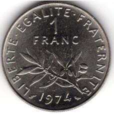 1 франк 1974 Франция - 1 franc 1974 France, из оборота