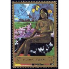 1972. Почтовая марка ОАЭ, Фуджейра. Авиапочта - Картины Гогена, 1R
