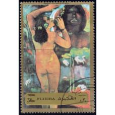 1972. Почтовая марка ОАЭ, Фуджейра. Картины Гогена, 30Dh