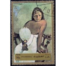 1972. Почтовая марка ОАЭ, Фуджейра. Картины Гогена, 50Dh