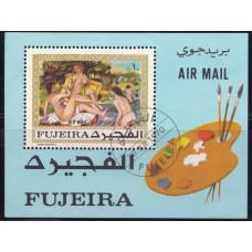1970, декабрь. Почтовая марка ОАЭ, Фуджейра. Авиапочта- Картины Ренуара, 10R