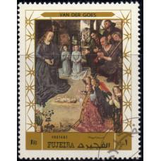 1970, декабрь. Почтовая марка ОАЭ, Фуджейра. Рождество, 1R