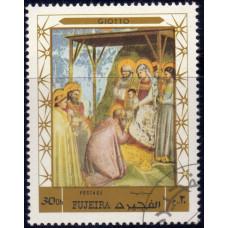 1970, декабрь. Почтовая марка ОАЭ, Фуджейра. Рождество, 30Dh