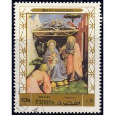 1970, декабрь. Почтовая марка ОАЭ, Фуджейра. Рождество, 70Dh