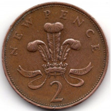 2 новых пенса 1971 Великобритания - 2 new pence 1971 Great Britain