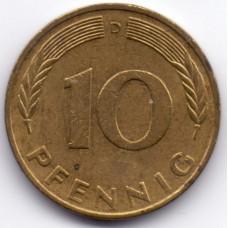 10 пфеннигов 1976 Германия - 10 pfennig 1976 Germany, D, из оборота