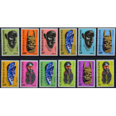 1967, март. Набор почтовых марок Гвинеи. Маски Гвинеи