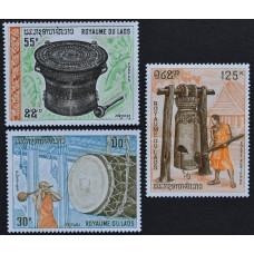 1970, март. Набор почтовых марок Лаоса. Лаосские барабаны