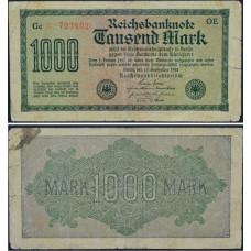 1000 марок 1922 Веймарская Республика - 1000 mark 1922 Germany