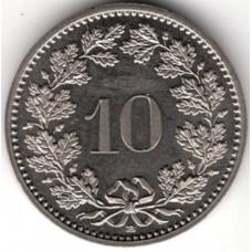 10 раппенов 1990 Швейцария - 10 rappenes 1990 Switzerland, из оборота