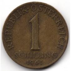 1 шиллинг 1961 Австрия - 1 schilling 1961 Austria, из оборота