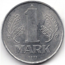 1 марка 1977 Германия (ГДР) - 1 mark 1977 Germany, А