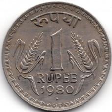 1 рупия 1980 Индия - 1 rupee 1980 India, из оборота