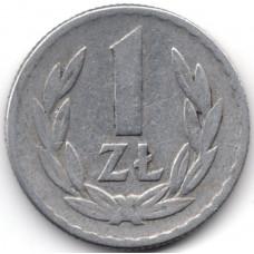 1 злотый 1965 Польша - 1 zloty 1965 Poland, из оборота