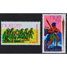 """1972, май. Набор почтовых марок Ниуэ. Южнотихоокеанский художественный фестиваль """"Фиджи 72"""""""
