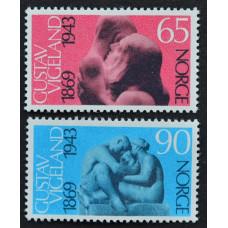 1969, сентябрь. Набор почтовых марок Норвегии. 100 лет со дня рождения скульптора Густава Вигеланда