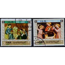 1969, август. Набор почтовых марок Йемена. 50 лет Международной организации труда