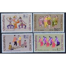 1961, июль. Набор почтовых марок Таиланда. Тайские классические танцы