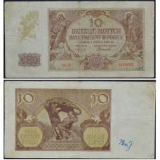 10 злотых 1940 Польша - 10 zloty 1940 Poland