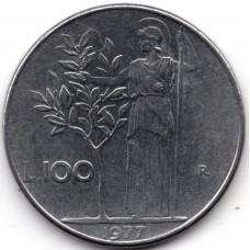 100 лир 1977 Италия - 100 lire 1977 Italy, из оборота