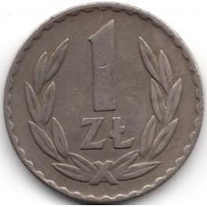 1 злотый 1949 Польша - 1 zloty 1949 Poland, из оборота