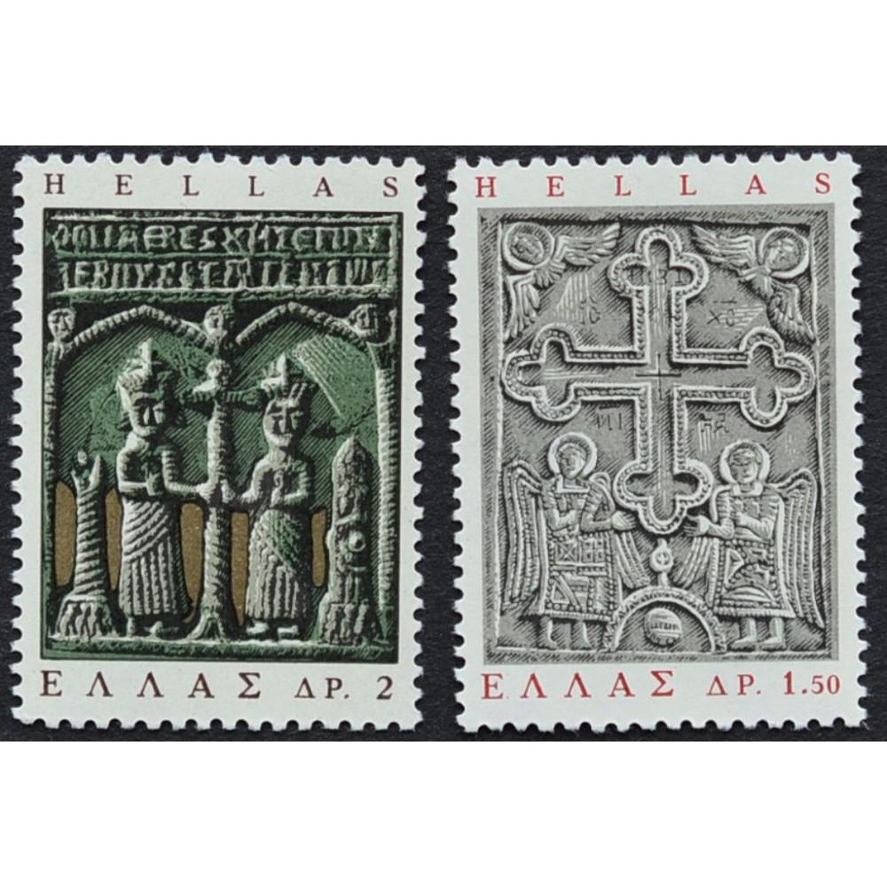 1966, ноябрь. Набор почтовых марок Греции. Греческое народное искусство