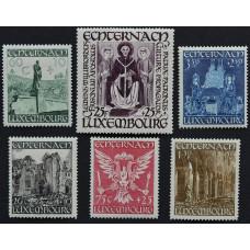 1947. Набор почтовых марок Люксембурга. Восстановление базилики Святого Виллиброрда в Эхтернахе