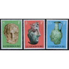 1972, март. Набор почтовых марок Люксембурга. Археологические объекты