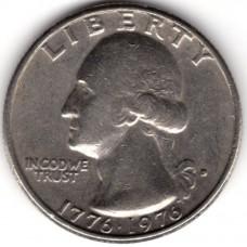 1/4 доллара 1976 США - 1/4 dollar 1976 USA, D, из оборота